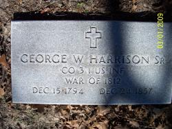 Rev George Washington Harrison, Sr