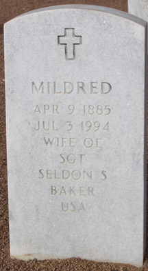 Mildred Genevieve <i>Wacaser</i> Baker