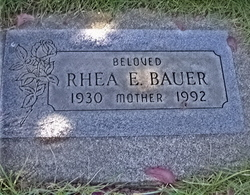 Rhea E Bauer