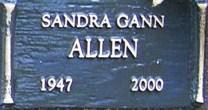 Sandra <i>Gann</i> Allen