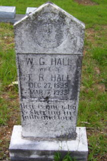 Willie Gertrude <i>Hall</i> Hall