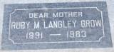 Ruby Marion <i>Rainey</i> Langley Grow