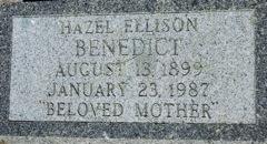 Hazel Izeola <i>Ellison</i> Benedict