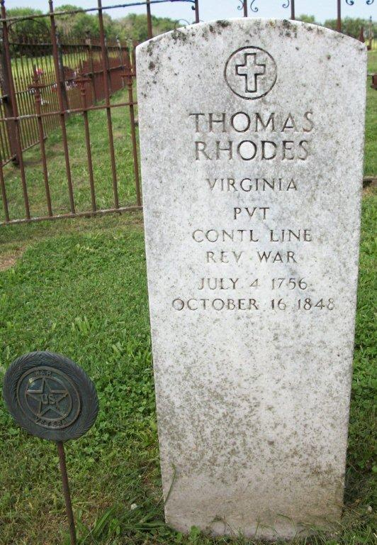Grave of Thomas Rhodes