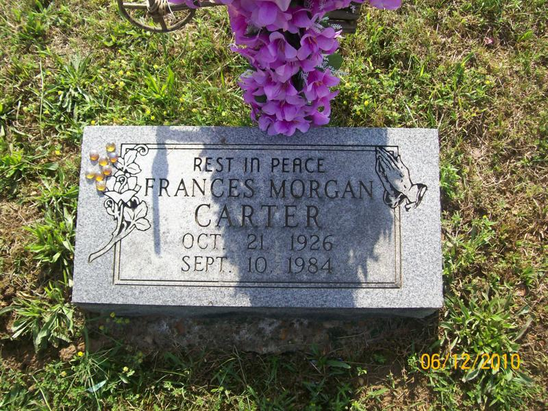 Frances Morgan Carter (1926 - 1984) - Find A Grave Photos