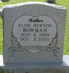 Elsie Vee <i>Newton</i> Bowman