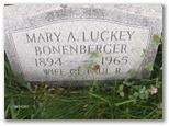 Mary A <i>Luckey</i> Bonenberger