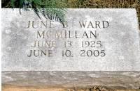 June Bessie <i>Ward</i> McMillan