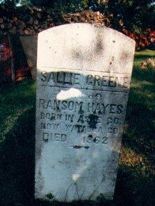 Sarah Sallie <i>Greene</i> Hayes