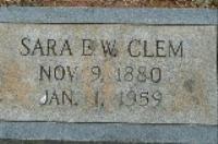 Mrs Sara E. Sallie <i>Weaghington</i> Clem