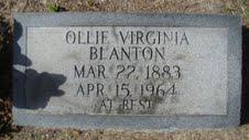 Olive Ollie Virginia <i>Fulford</i> Blanton