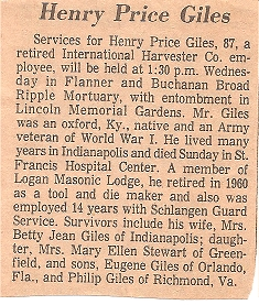Henry Price Giles