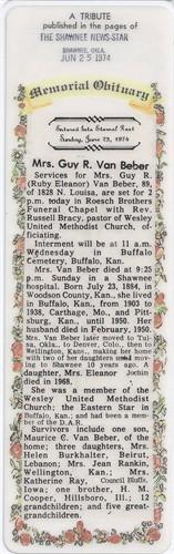 Ruby Eleanor Danny <i>Cooper</i> VanBeber