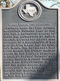 Lanes Chapel Memorial Cemetery