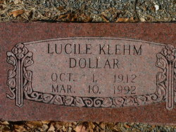 Lucile <i>Klehm</i> Dollar