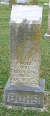 Elizabeth Lizzie <i>Logel</i> Buhs