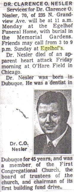 Dr Clarence Nesler