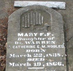 Mary F. Fannie <i>F.</i> Nobles