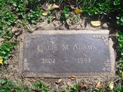 Lillie Marie <i>Wright</i> Adams
