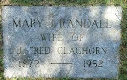 Mary J <i>Randall</i> Claghorn