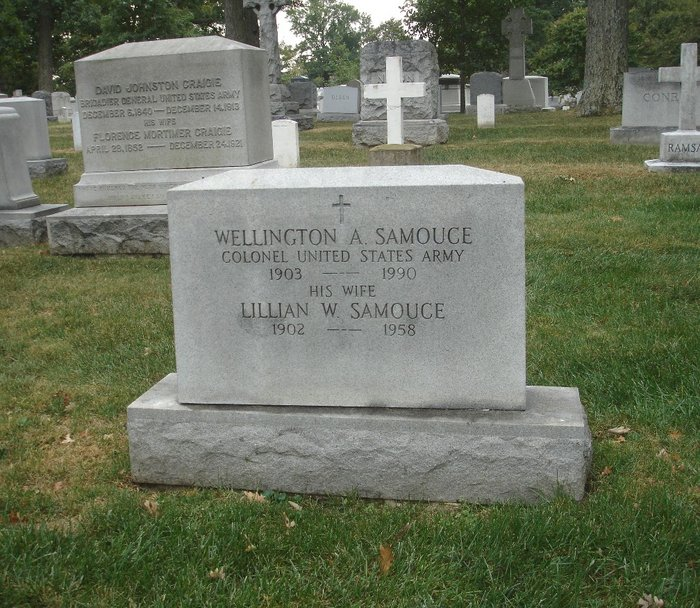Samouce headstone at Arlington National Cemetery