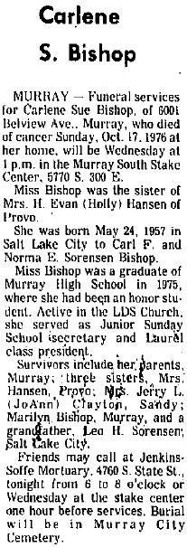 Carlene Sue Bishop