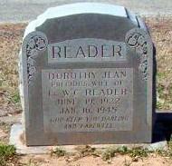 Dorothy Jean <i>Wells</i> Reader