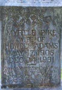 Myrtle <i>Pike</i> Adams