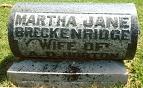 Martha Jane <i>Breckenridge</i> Horton