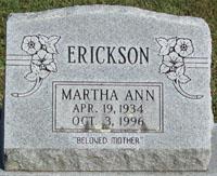 Martha Ann Anne <i>Boyd</i> Erickson