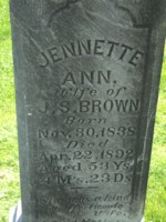 Jennette Ann <i>Steele</i> Brown