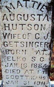 Mattie Augusta <i>Hutson</i> Getsinger