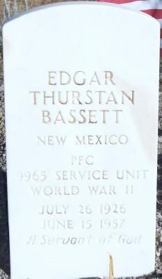 PFC Edgar Thurston Bassett