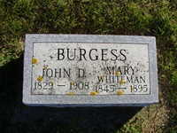 Mary <i>Whiteman</i> Burgess