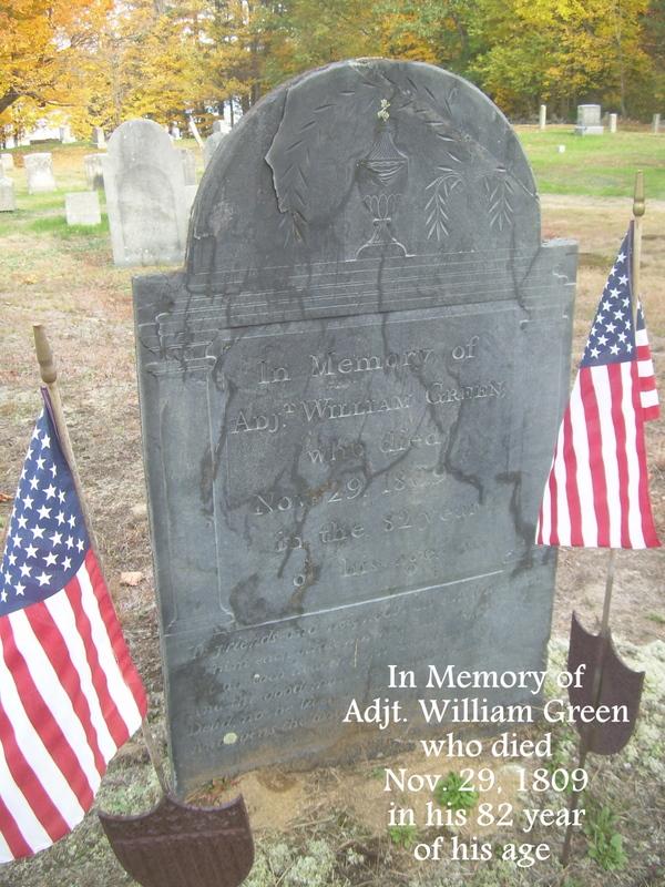 William Green 1727-1809 gravestone
