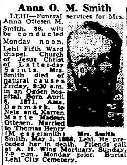 Antomina Anna <i>Ottesen</i> Messersmith