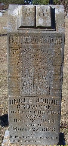 Jonathan E Uncle Johnnie Crowson
