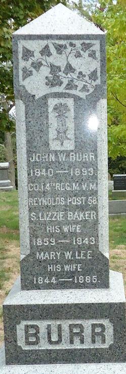 Mary W <i>Lee</i> Burr
