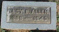 Lucy Belle <i>Drane</i> Allen