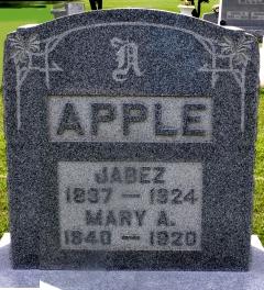 Mary Ann <i>Rhodes</i> Apple