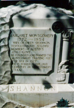Mrs Margaret <i>Montgomery</i> Shannon