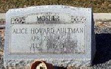Alice Vivian <i>Howard</i> Aultman