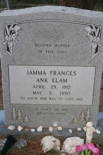 Iamma Frances <i>Ank</i> Elam