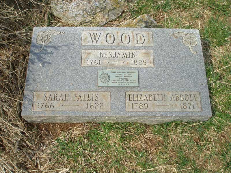 Benjamin Wood tombstone