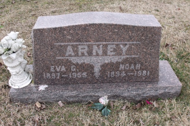 Grave Stone for Noah Arney and Eva Arney