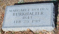 Margaret <i>Holden</i> Burkhalter