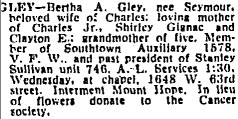 Bertha Arletta <i>Seymour</i> Gley