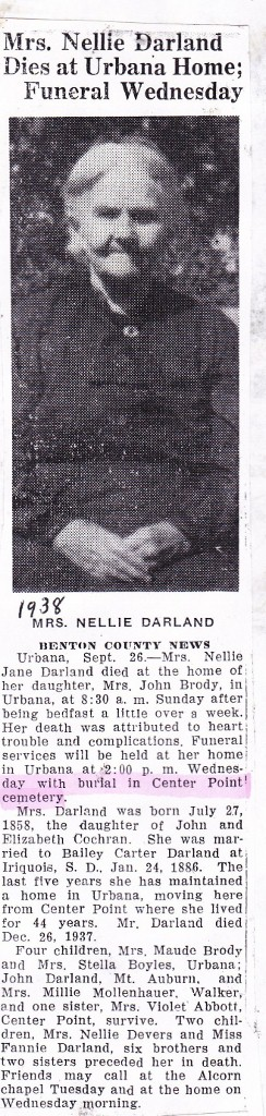 Nellie Jane <i>Cochran</i> Darland