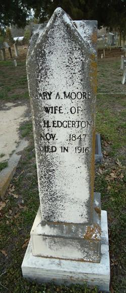 Mary Ann <i>Moore</i> Edgerton