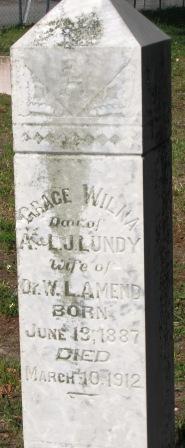 Grace Wilma <i>Lundy</i> Amend